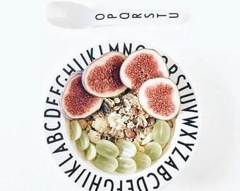 Alphabet Deep Bowl - Minimalist Infant Deep Bowl