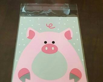 Piggy Treat Bags - Set of 10.