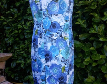 Dress, party dress, dress with lace, roses dress, dress, sleeveless cotton dress,