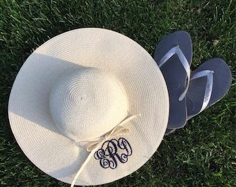 Monogrammed Sun Hat