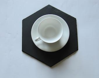 Hexagonal plate GM in natural slate