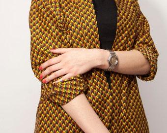 Tunic in wax, African fabric