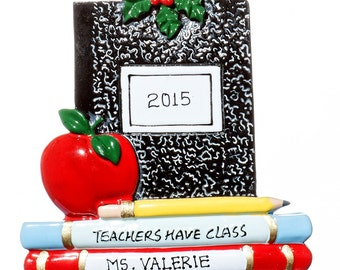 Personalized Ornament- Teachers have Class- Free Gift Bag Included