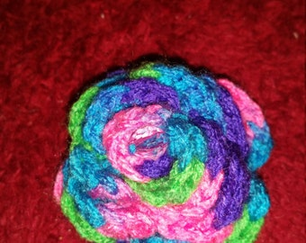 Multi-colored Rose Hairclip