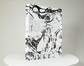 MARBLE notebook #14 / marbled high-end stationery