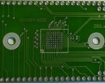 Adapter (top board) BGA64 BGA561-5000 29GLxxx AM29LV256M solder TNM5000