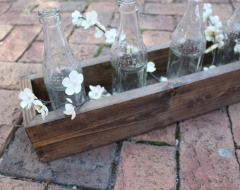 Farmhouse Centerpiece, Table, Wood Planter Box, Farmhouse Decor, Spring, Rustic