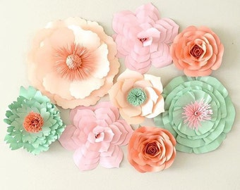 Paper Flower Backdrop,Paper Flower Wedding Backdrop, Large Paper Flowers, Baby Shower Decor, Giant Paper Flower Back Drop,Flower Centerpiece