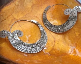Brass Indian style earrings