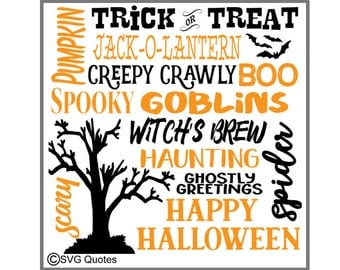 Halloween Subway words SVG DXF EPS Cutting File For Cricut Explore, Silhouette & More. Instant Download. Personal and Commercial Use. Vinyl