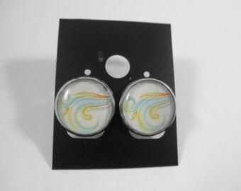 Weather Jewelry, Weather Earrings, Windy Earrings, Windy Jewelry, Wind Earrings, Wind Jewelry, Abstract Wind Jewelry, Abstract Jewelry