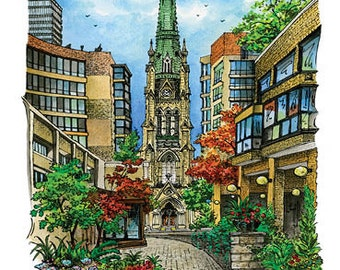Card Cathedral Church of St. James, Toronto by David Crighton