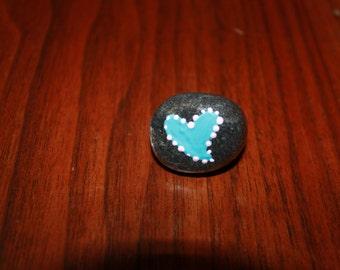 Painted Garden Rock Heart #20