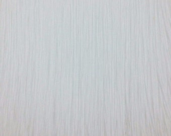 """12"""" inch long White Chainette Fringe Selling by Yard."""