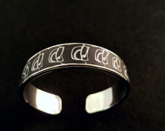 "Bracelet cuff Black & white collection ""SINE DESIGN"""
