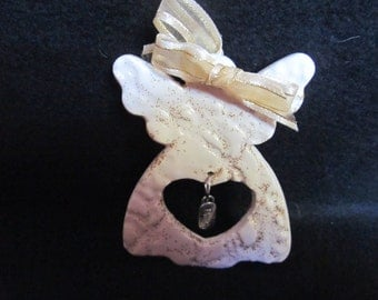 Ornament, Christmas, Angel, Pottery, Cermamic, Handmade