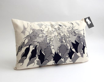 Manta Ray swarm pillowcase organic cotton 60cm x 40cm