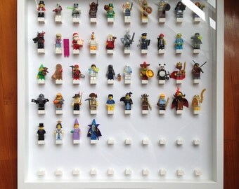 Lego White Large Display Case Frame [perfect for minifigures]
