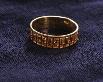A Sturdy Hieroglyphic Alphabets Golden Ring