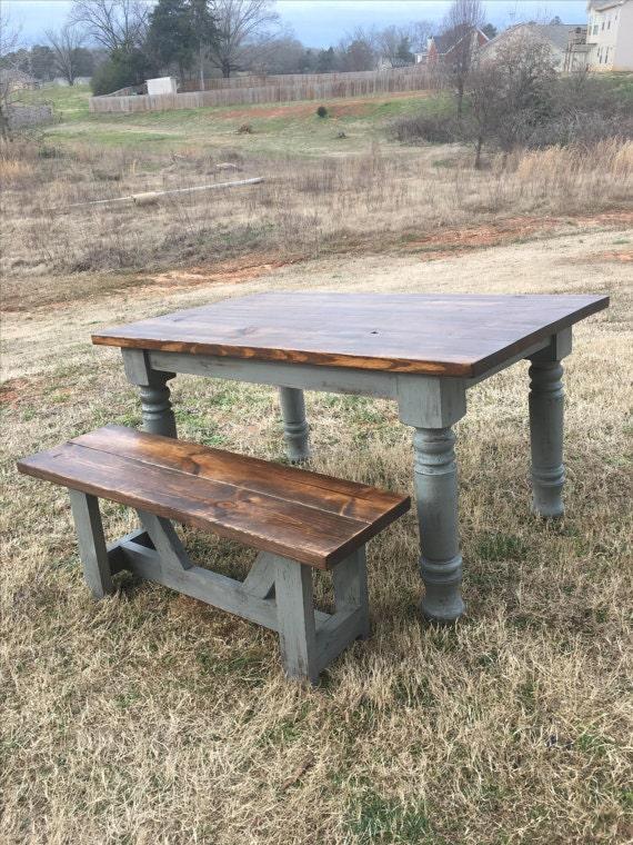 Farmhouse table dining table solid wood table harvest for 65 farmhouse table
