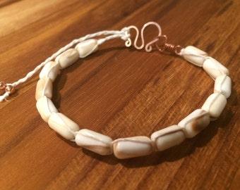 White Whelk Wampum Bracelet