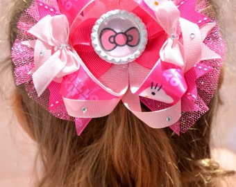 Hello kitty boutique bow| hello kitty bow | hello kitty | pink bow | hello kitty birthday party bow | hello kitty birthday
