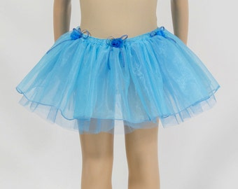 Turquoise child tutu skirt