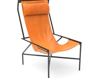 Catch Leather Sling Chair