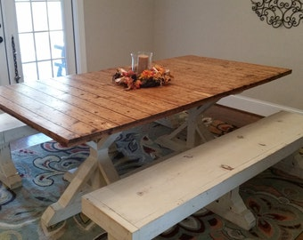 Barn door, farm table