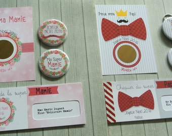 A set of 2 kits for the Grandpa and the Grandma for Christmas or any other party
