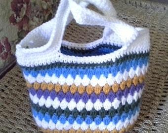 Crochet Satchel Handbag