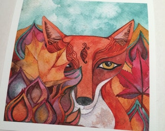 Red Fox  Giclee print by Megan Noel