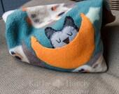 Fleece Heating Pad | Organic Lavender Owl Sachet | Rice Filled Heating Pad | Hand-sewn | Bridesmaid Gift | Cute Small Gift Under 40 | Unisex