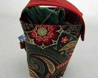Winter Paisley Bucket