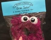 Brain Sucker Monster Headband (wide) Purple vegan
