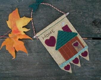 Mini Wallhanging, Newlywed gift, Home Love, House love, Housewarming Gift, Fiber Art, Embroidery Art