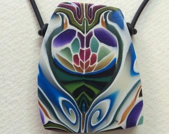 Heart Polymer Pendant Handmade by Caren Goodrich