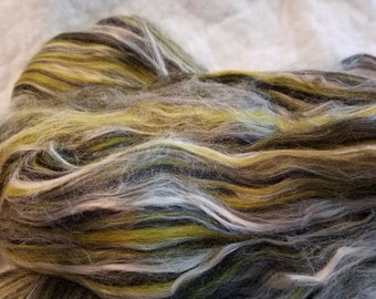 CRAZY Merino Soy Silk Bamboo Combed Top Roving *BUMBLE BEE* blend xtra soft wool