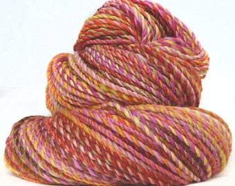 Handspun Yarn handdyed superwash Merino wool