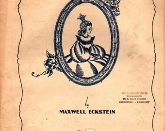 Princess Charming Intermezzo for Piano - Maxwell Eckstein - 1933 - Vintage Sheet Music
