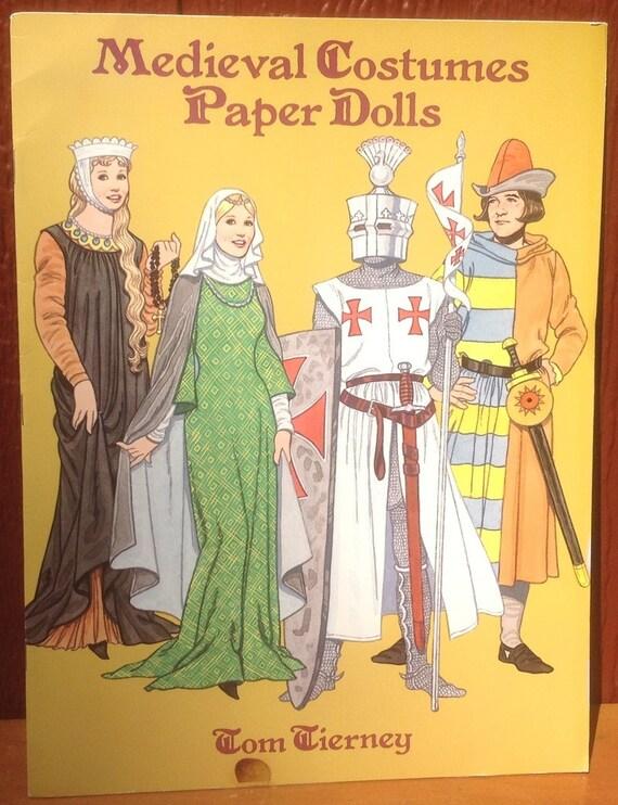 Medieval Costumes Paper Dolls - Tom Tierney - 1996 - Vintage Kids Book