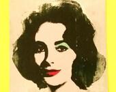 Andy Warhol Foundation Liz Elizabeth Taylor Portrait Bright Pop Art Classic Red Lips Waterproof Vinyl Sticker