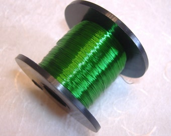 Emerald colour British Craft Wire 0.2mm 175m long