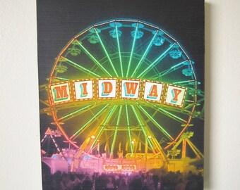 SALE, Ferris Wheel Art, Fine Art Photography, Colorful Art, Photo on Wood, 8x10
