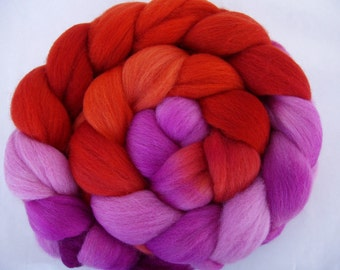 No.5, softest Falkland spinning fiber, handpainted wool roving, felting wool, wet felting wool, needle felting wool, 20 micron, 3.5oz