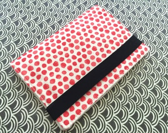 Passport Cover,  Passport Holder, Passport Wallet, Passport Case -- Red Dots