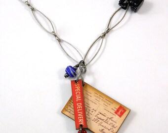 Special Delivery Postcard Necklace