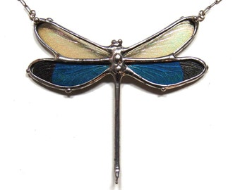 Dragonfly Necklace with REAL Dragonfly Wings in Glass - Great Present for a Nature Lover - Real Insect Jewelry