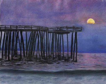 "Chesapeake Sunset - 9x11"" Limited Original Pastel"