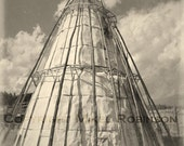 Tepee. Ghost Town. Original Digital Photograph Print. Black and White. Wall Decor. 4 MILE TEPEE by Mikel Robinson